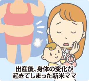 出産後、身体の変化が起きてしまった新米ママ